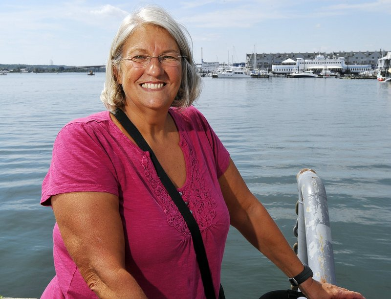 Pat Gallant-Charette says she was escorted to the finish line in California by more than 100 dolphins.