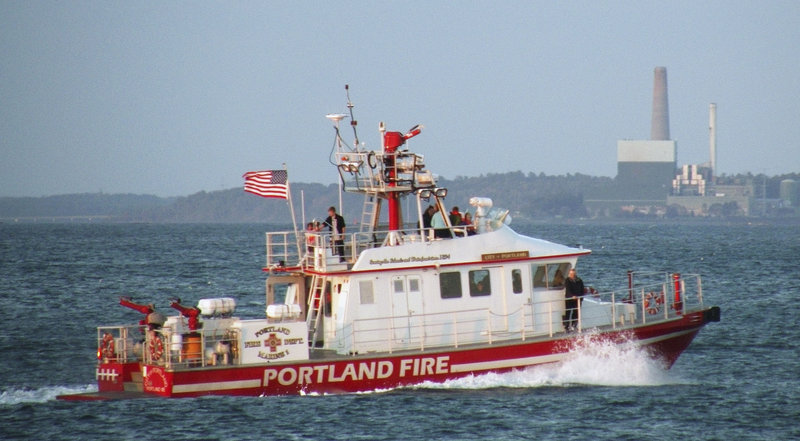 Roger Lehoux of Saco says the Portland fireboat he photographed Oct. 15 in late afternoon, may be the one that struck an object just before 6 p.m. that day. Lehoux says he was taking sunset pictures from Bug Light Park when the boat passed with more than 10 people on board.