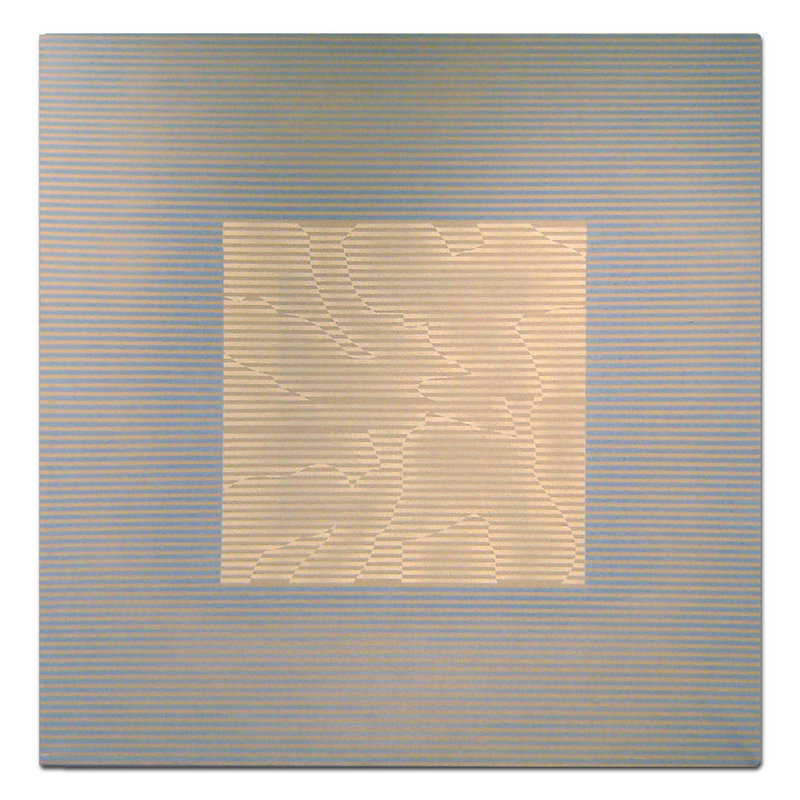 """Night Window #5,"" acrylic on canvas, by Harry Nadler."