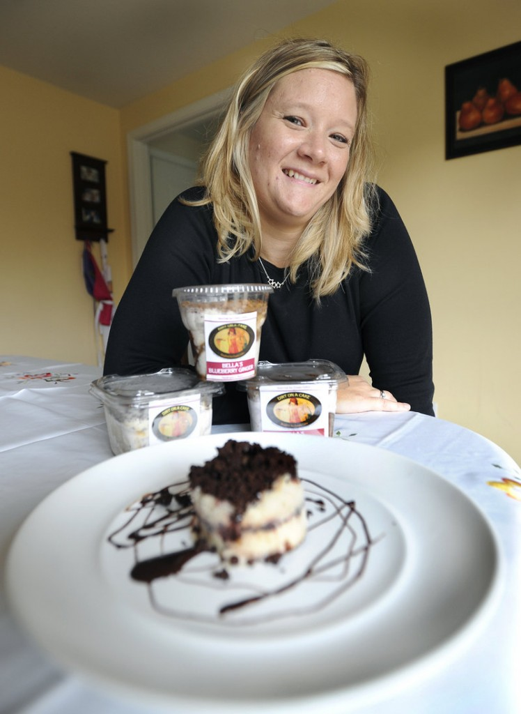 Emily Adams owns and operates Dirt on a Cake from her home in Windham.