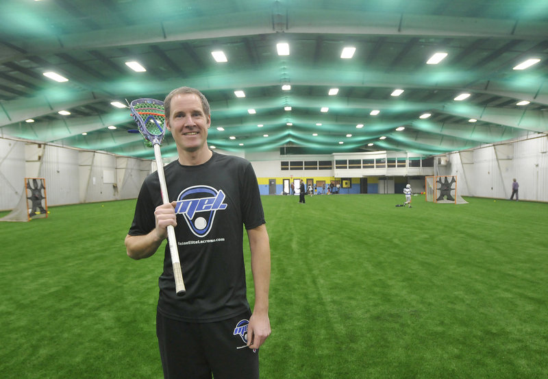Deke Andrew runs Maine Elite Lacrosse practices and games in the recently renovated Riverside Athletic Center in Portland, but the facility is also providing indoor playing space for teams in other sports.