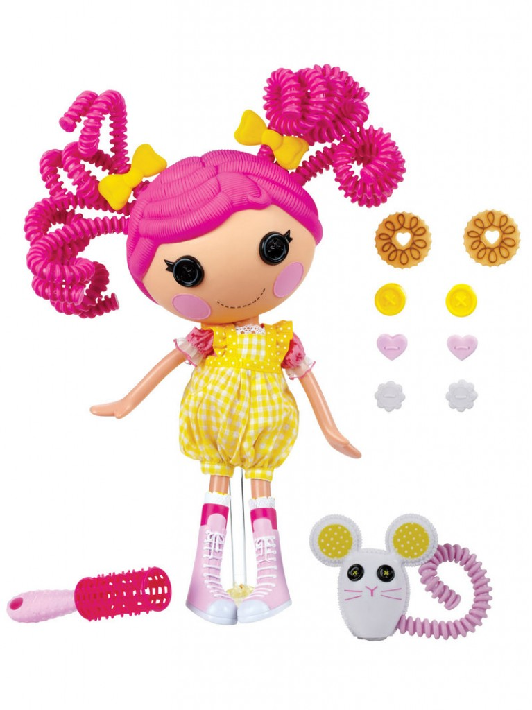 "LALALOOPSY: The silly hair dolls ""were once rag dolls who magically came to life,"" says the Toys R Us website. Prices vary depending on the doll or set, but ""Crumbs Sugar Cookie,"" shown here, is $29.99 at toysrus.com."