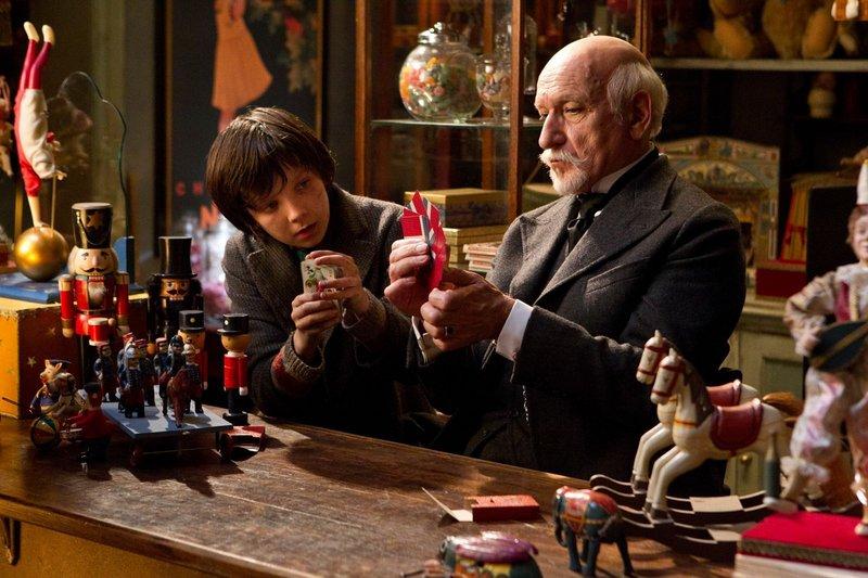 "Asa Butterfield, left, and Ben Kingsley in ""Hugo."""