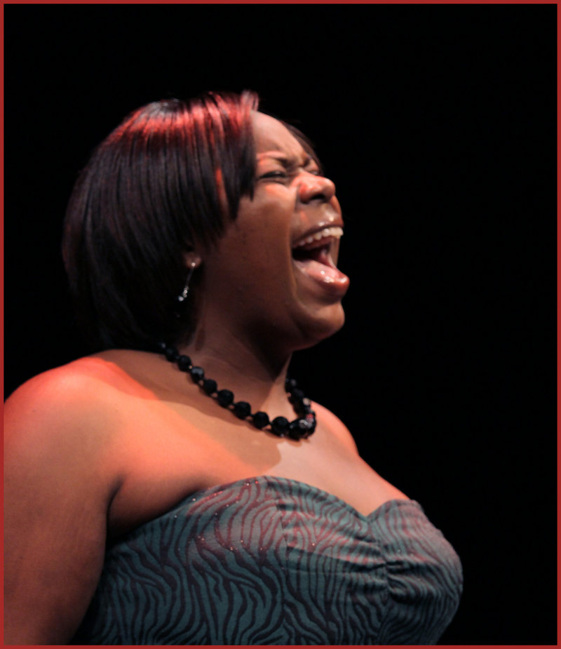 """Marva Pittman is among the stars of """"Broadway at Good Theater,"""" running Thursday through Dec. 4 at the St. Lawrence Arts Center in Portland. The show features leading man Kevin Earley, who appeared in """"Les Miserables,"""" """"Thoroughly Modern Millie"""" and other shows on Broadway. The large cast also includes Kelly Caufield, Lynne McGhee, Stephen Underwood, David Goulet, Grace Bradford, Joe Bearor, Marc Brann, Todd Daley, Marie Dittmer, Deirdre Fulton, Meredith Lamothe, Jen Means, Erik Moody, Taylor Palmer, Amy Roche and Benjamin Row."""