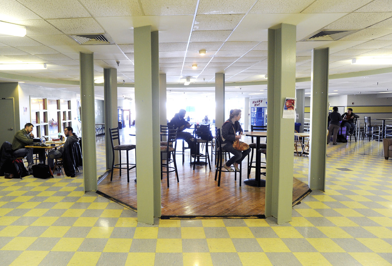 """Students eat and read at the University of Southern Maine's Gorham campus. """"USM is a great school in an exciting part of the state,"""" one reader says."""