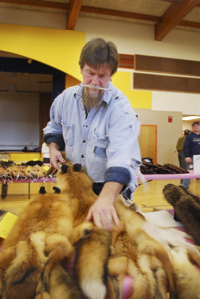 Guy Johnson, a fur buyer from Lakeville, Mass., travels the country buying fur from trappers to sell on the international market. Furs are popular in numerous Eastern European nations.