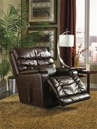 This chair from La-Z-Boy, with its size and side lever, sports a more traditional recliner look. But even it has something new: Shiatsu massage.