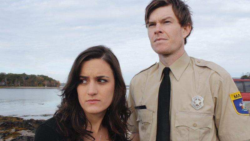 "Amie Marzen and Erik Moody in ""Ragged Isle."""