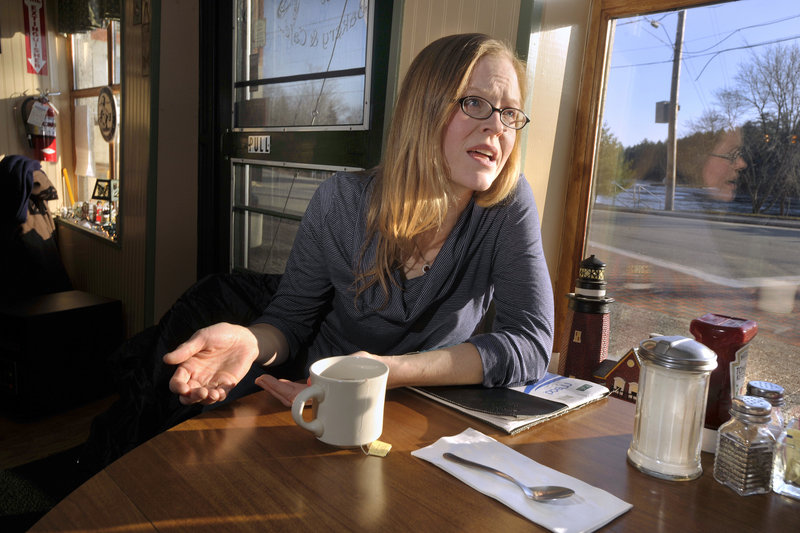 Jen Cloukey, a registered nurse and single mother of four from Bowdoinham, was singled out in Gov. Paul LePage's inaugural address last year for working her way off welfare.