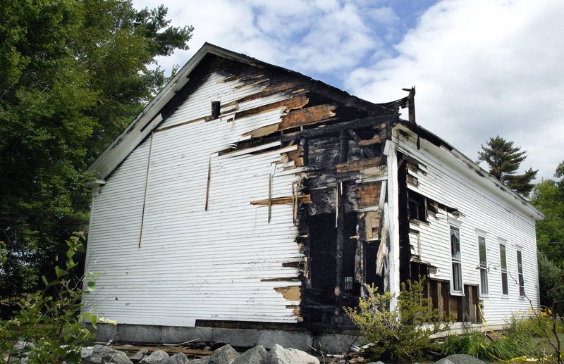 A fire at the Raymond Hill Baptist Church on July 26 severely damaged the back corner of the building and destroyed an organ.