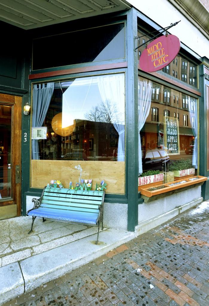 Bibo's Madd Apple Cafe.