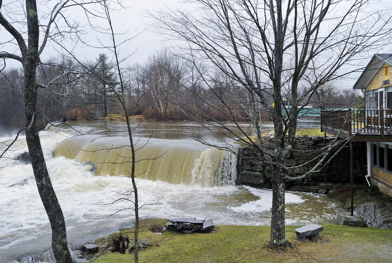 The town of Yarmouth has begun considering the pros and cons of removing two dams on the Royal River. The dam off East Elm Street, which borders a home on Melissa Drive, serves mainly as an impoundment, keeping river levels high in the summer.