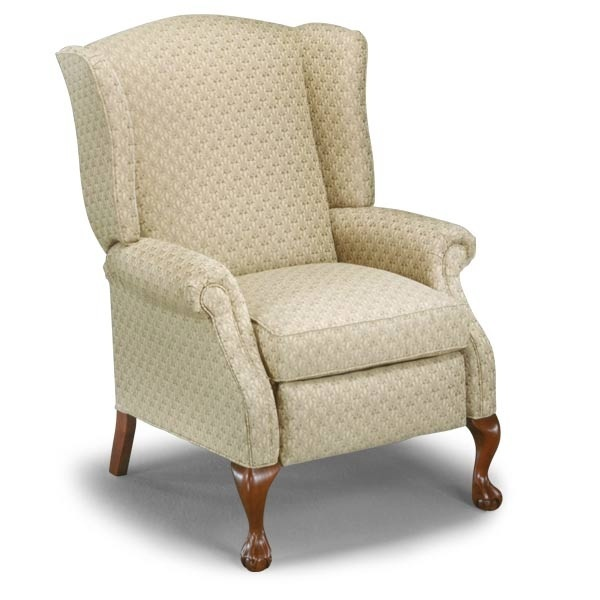 This wingback chair hardly looks like a recliner, but it is one. Many of today's consumers want the comfort of a recliner but in a sleeker style than more traditional models.