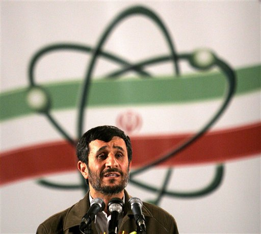 In this April 9, 2007 file photo, Iranian President Mahmoud Ahmadinejad speaks at a ceremony in Iran's nuclear enrichment facility in Natanz. (AP Photo/Hasan Sarbakhshian, File)