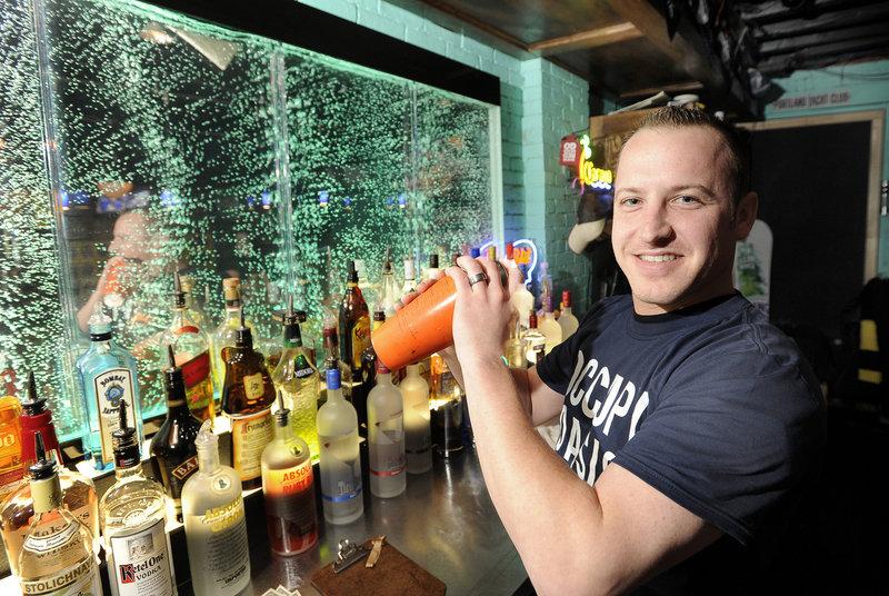 Bartender Mike LaRose mixes up an Oasis Ocean Martini.