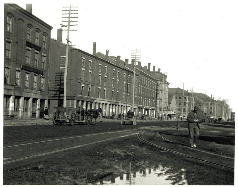 This view of Commercial Street in Portland, circa 1890, is from an online memory book created by Steve Bromage, Maine Historical Society assistant director.