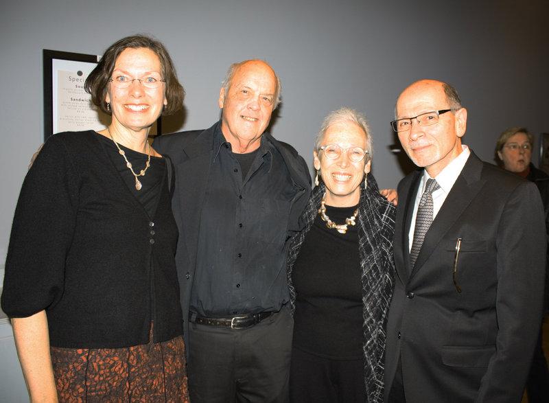 Christa Cornell of Brunswick, artist Tom Cornell, Beverly Denenberg and Stuart Denenberg, one of the individuals who organized the show.
