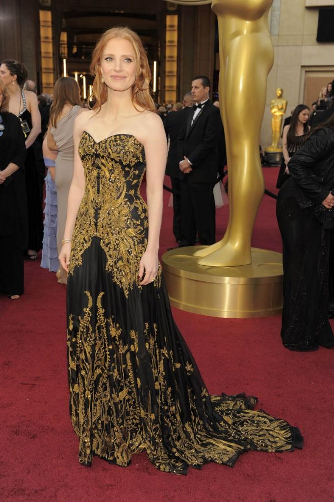 Jessica Chastain, an Alexander McQueen.