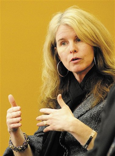Maine Department of Health and Human Services Commissioner Mary Mayhew speaks at a news conference announcing Gov. Paul LePage's plans to restructure the department on Wednesday.