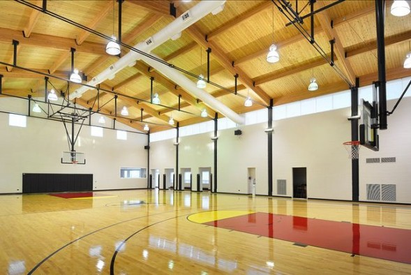 Jordan's 56,000-square-foot home includes a regulation sized basketball court.