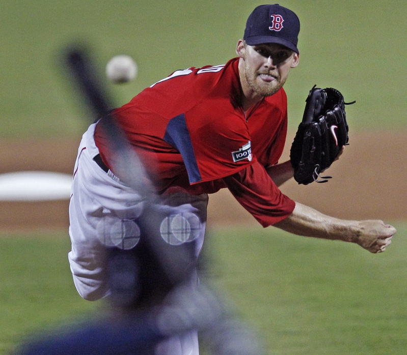Boston Red Sox starter Daniel Bard delivers against the Tampa Bay Rays on March 10. Bard's numbers on Sunday weren't great, but, he said,
