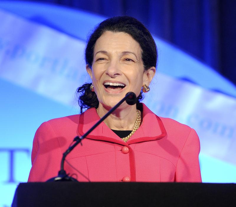 Sen. Olympia Snowe speaks in Portland in October 2011.