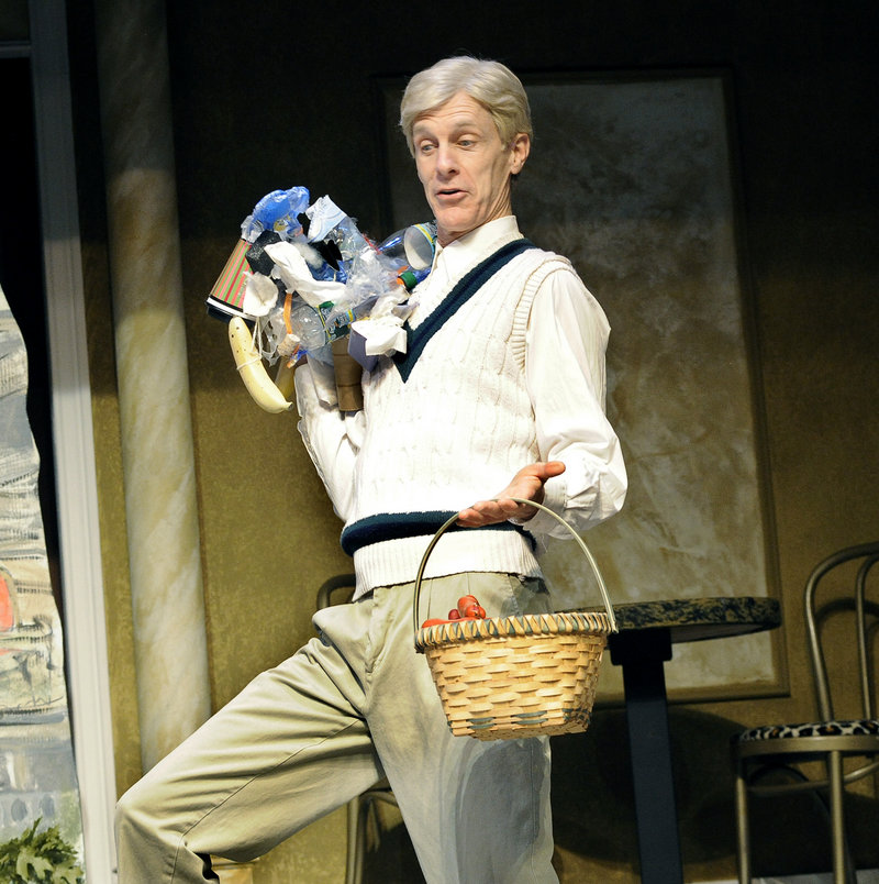 """Stephen Underwood during a dress rehearsal for the Good Theater production of """"Little Me"""" at the St. Lawrence Arts Center in Portland. Underwood starred in """"Little Me"""" with Good Theater a decade ago, establishing himself as one of Portland's best comedic actors."""