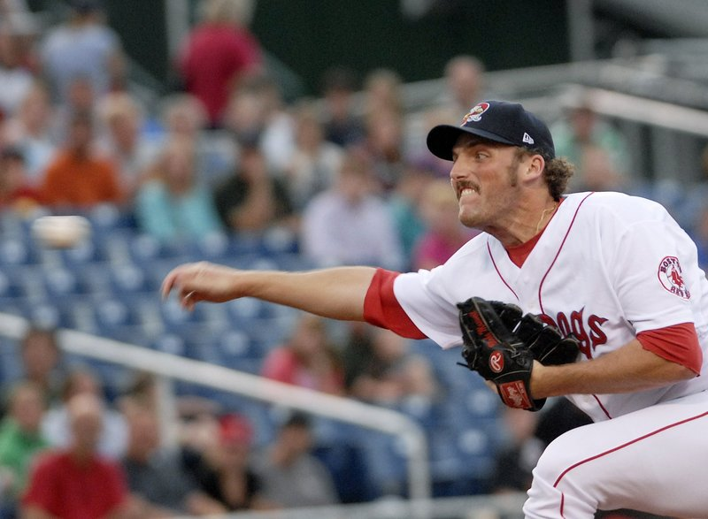 Blake Maxwell used his sidearm delivery to go 10-4 with 15 saves and a 2.51 ERA the last two seasons with the Sea Dogs, but the Red Sox elected not to re-sign him.
