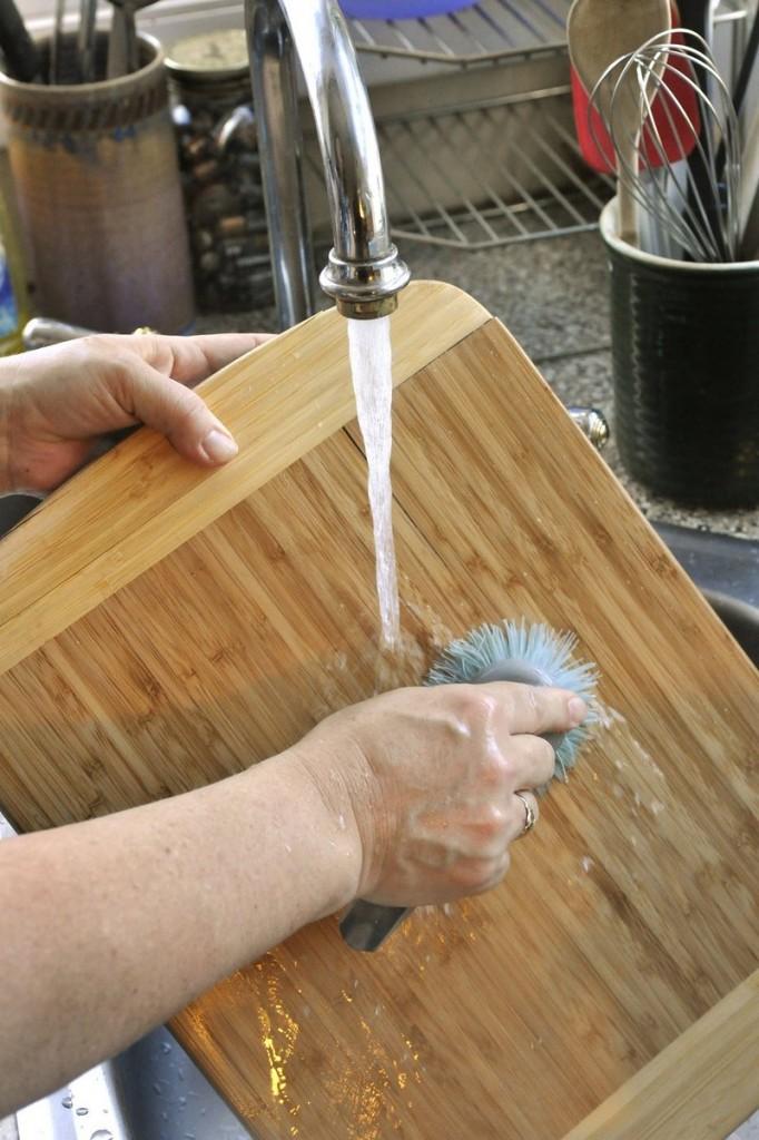 Do wash cutting boards after peeling produce and before cutting and chopping vegetables.