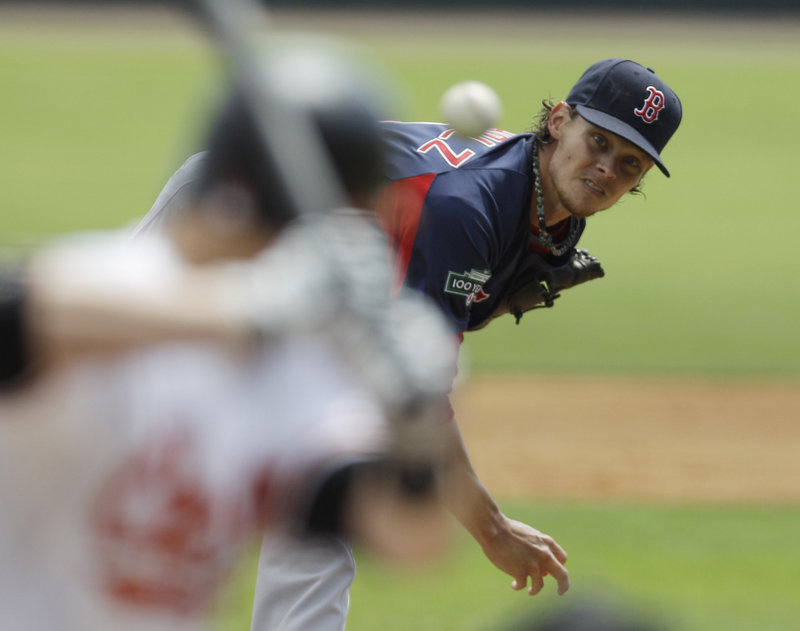 Clay Buchholz used a minor league outing Wednesday to work on his change-up, finally getting it like he wanted. His other pitches also have looked good at one time or another.