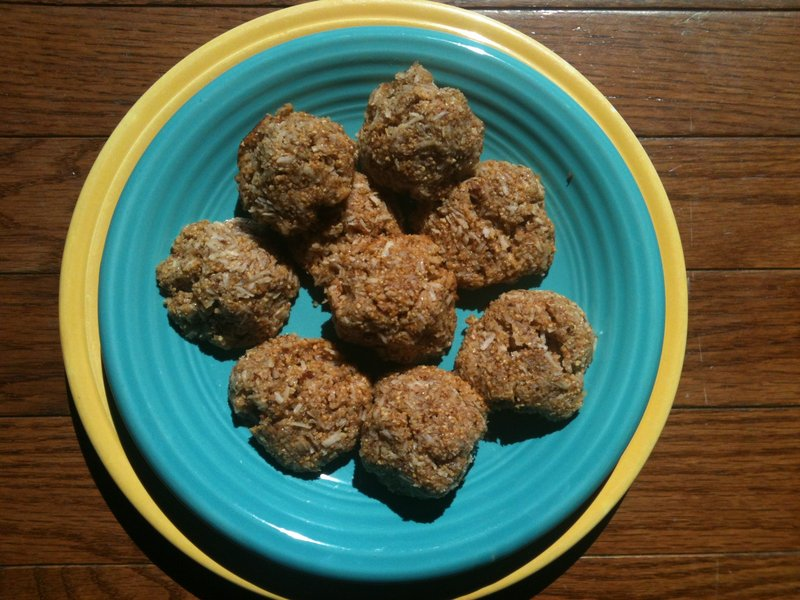 Kirah Lynn Brouillette's macaroon recipe calls for brown rice syrup and agave syrup instead of refined sugar, and yields a flavor that Brouillette says reminds her of Caramel DeLites Girl Scout cookies.