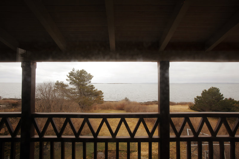The wraparound porch at Winslow Homer's studio at Prouts Neck has been restored to the way it appeared when the artist himself sat on it and gathered inspiration from the sea for his paintings, from the end of the 19th century until his death in 1910.