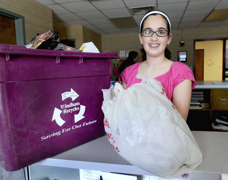 When Sierra Yost learned that Windham stores give out nearly 10,000 plastic bags per day, a mission was born.