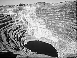 An open-pit gold mine in Costa Rica.