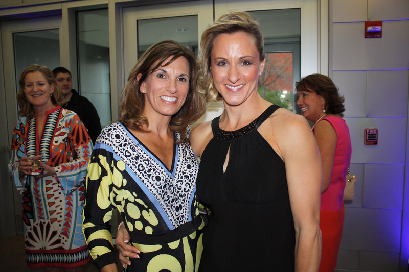 Board member and volunteer Jennifer Hickey and model Christina Strong D'Appolonia.