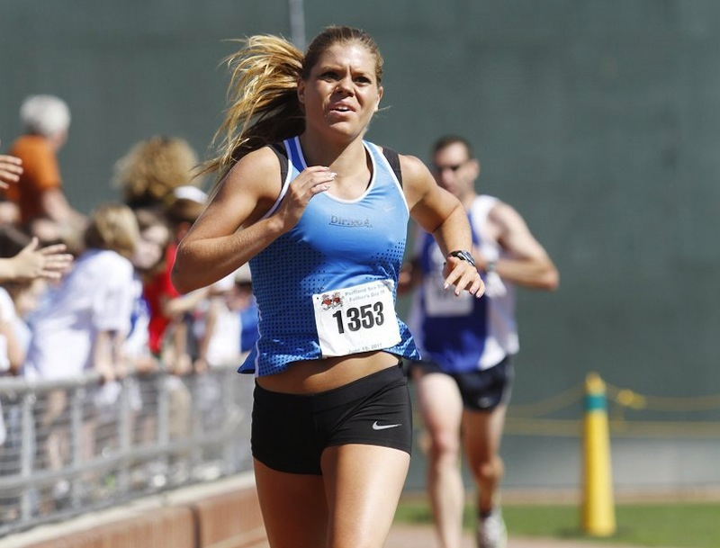 This file photo shows Erica Jesseman of Scarborough during the 2011 Portland Sea Dogs Father's Day 5K road race. Jesseman also won the Mother's Day Road Race on Sunday, May 13, 2012. Road Racing
