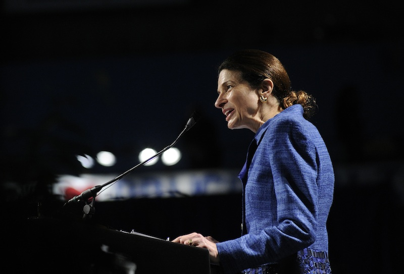 In her convention speech, Sen. Olympia Snowe recapped highlights of a political career that began in 1973 with her election to the Maine House of Representatives.