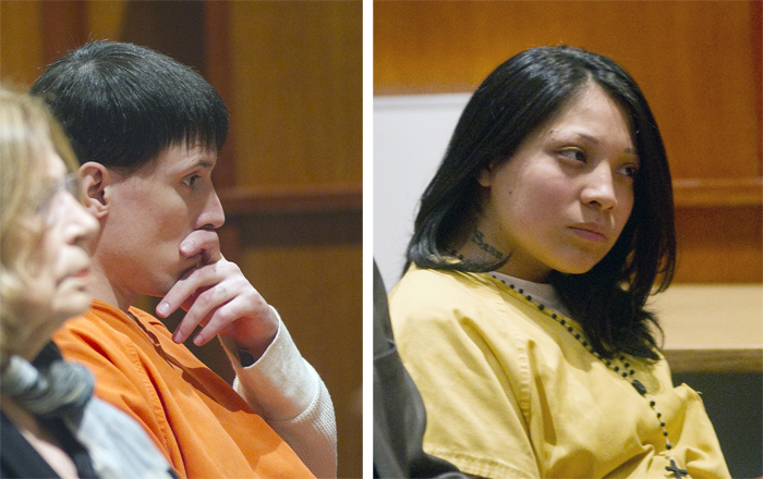 Shawn Batchelder and Karla Wilson at their sentencing in Superior Court on Thursday.