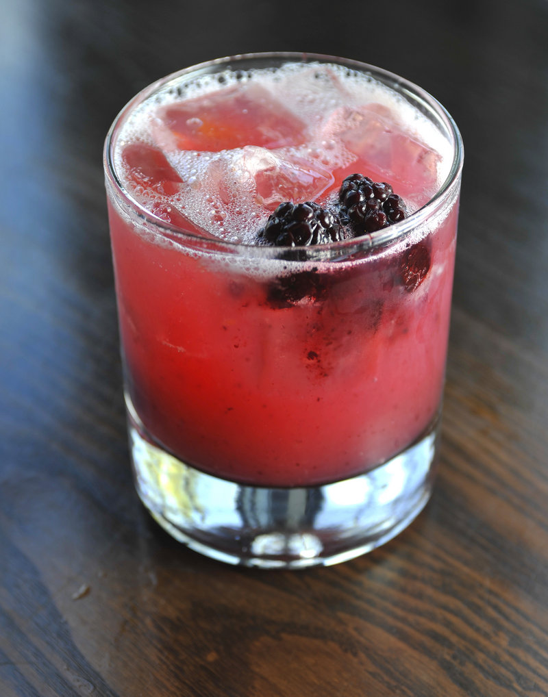 The Mariposa is made with agave tequila, muddled orange, fresh blackberries and freshly squeezed lime juice.