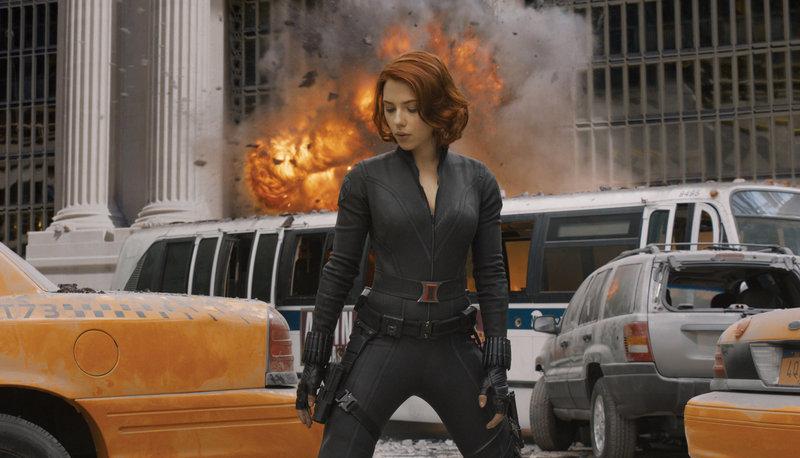 """Scarlett Johansson stars as Black Widow in """"The Avengers."""""""