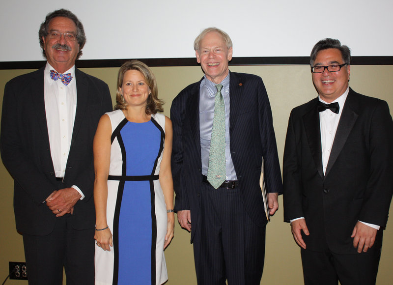 With honorees S. Donald Sussman, left, and Earle G. Shettleworth Jr., second from right, are trustees and Art Honors co-chairs Margaret O'Keefe and Andres Verzosa.