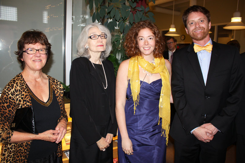 Joining in the Art Honors celebration, from left, artists Dudley Zopp; Judith Daniels, chair of the Maine Center for Contemporary Art board; Harris Parnell of Bath and Chris Korzen of Portland.