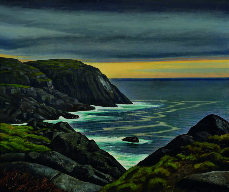 """""""Untitled"""" by Rockwell Kent, from """"Jamie Wyeth, Rockwell Kent and Monhegan,"""" at the Farnsworth Art Museum in Rockland."""