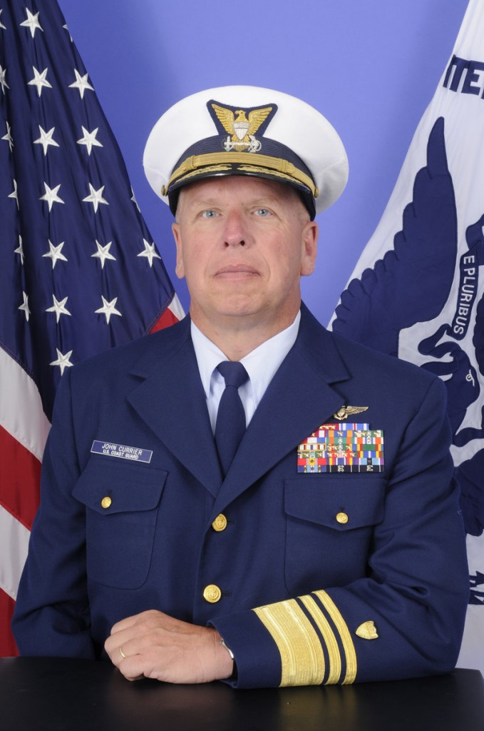 Vice Adm. John Currier, a native of Westbrook, will become vice commandant of the Coast Guard during a military change of watch ceremony today at Fort Lesley J. McNair.