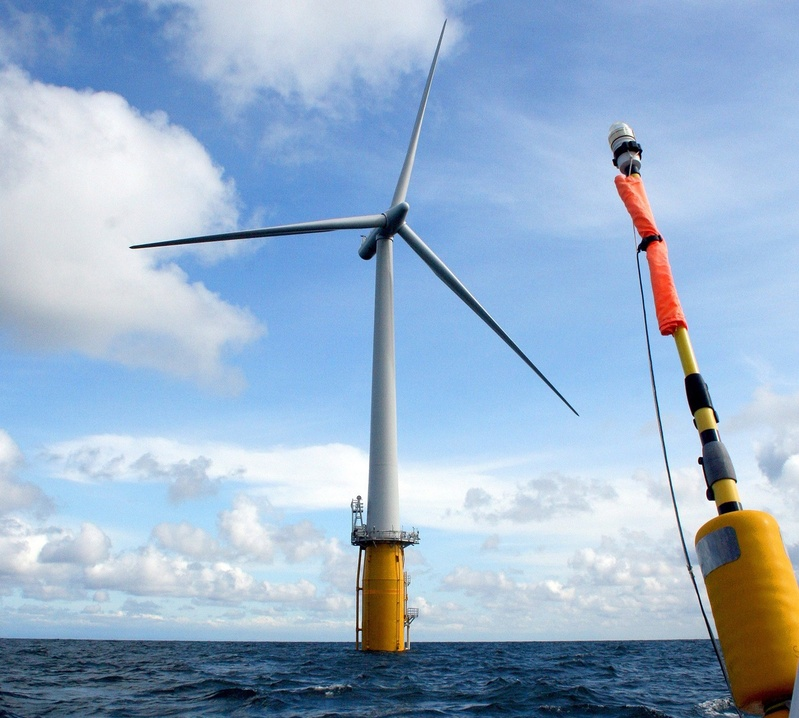 Statoil had plans for four test turbines off Boothbay Harbor, similar to this Hywind test turbine off Norway. The company pulled out of Maine in October, saying it would focus its research and development in Scotland, which had a clearer policy on offshore wind energy.