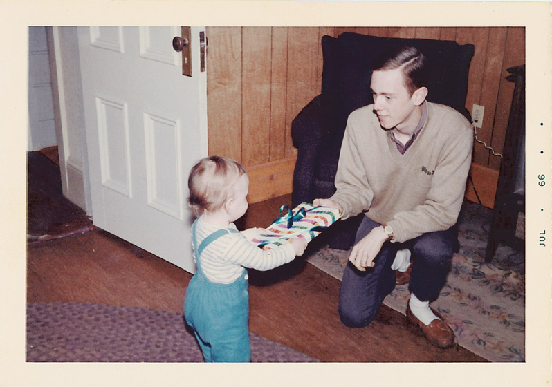 """Gift exchanging became an early habit between father Ellsworth """"Derry"""" Rundlett and son Ellsworth """"Nick"""" Rundlett."""