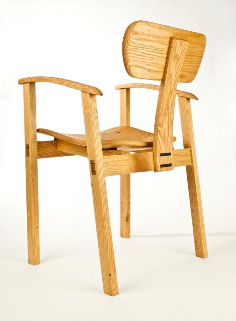 Oak chair by Steven Anderson.