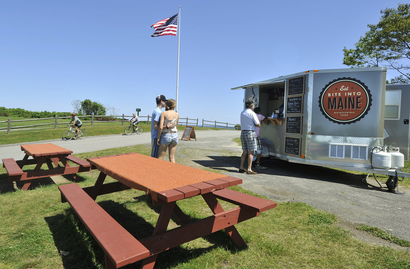 The Bite Into Maine food truck at Fort Williams.