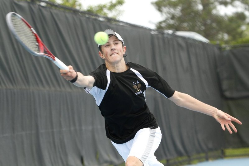 Jordan Friedland of Lincoln Academy was unbeaten this year and defeated three higher-seeded players on his way to the state singles championship.