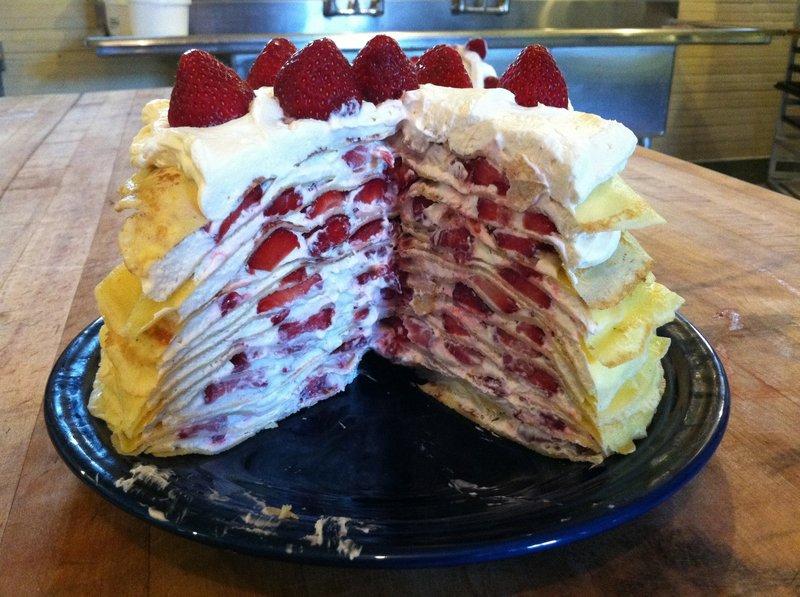 Erin Lynch's strawberry crepe cake.